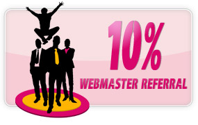 10% Webmaster Referral